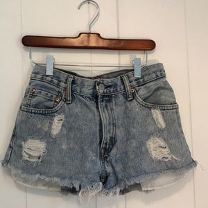 Vintage Levi high waist denim shorts
